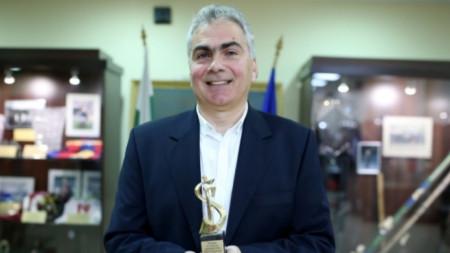 инж. Иван Тенчев - носител на наградата за спортна журналистика