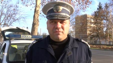 Началникът на Пътна полиция в Казанлък Тодор Николов