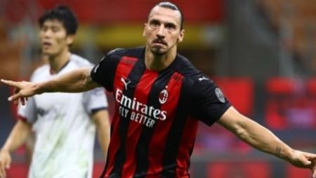 Златан Ибрахимович не спира да бележи за Милан