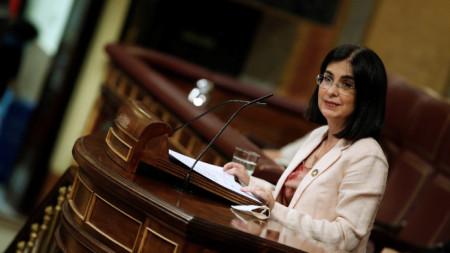 Каролина Дариас, министър на здравеопазването на Испания.