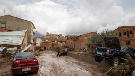Последици от наводненията в испанската област Каталуния.
