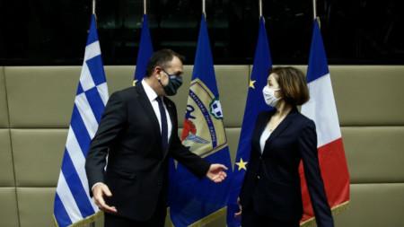 Министри на отбраната на Гърция и Франция