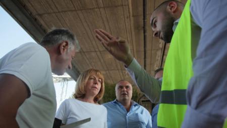 Йорданка Фандъкова направи проверка на ремонта на бул.