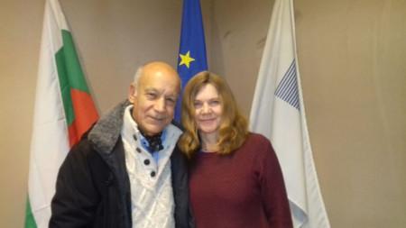 Цигуларят Георги Калайджиев и съпругата му Мария Хаутшилд