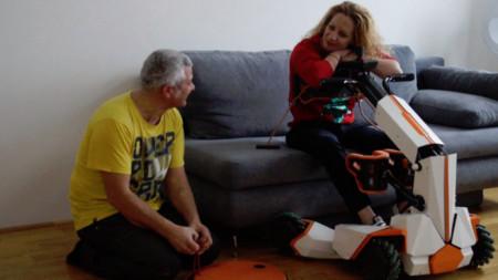 Силвия Василева и Димитър Ортаков по време на работния процес.