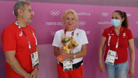 Мария Гроздева получи благодарности и букет от БОК.