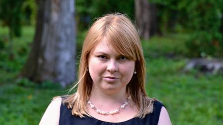 Украинката Катерина Гандзюк, който почина три месеца след заливане с киселина.