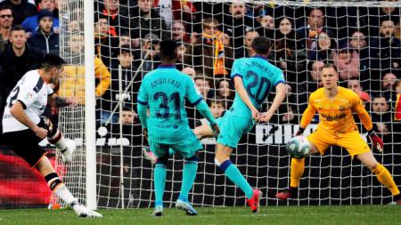 Макси Гомес вкара втория гол за домакините