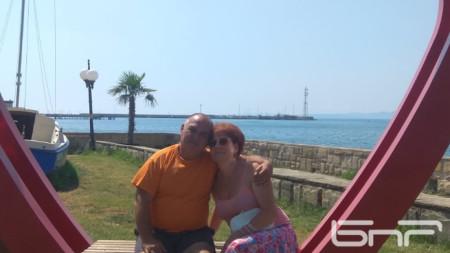 Валентина и Бойко Лозанови от София са избрали Поморие за почивката си