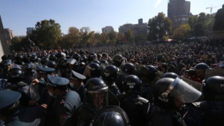 Опозиционен митинг в Армения