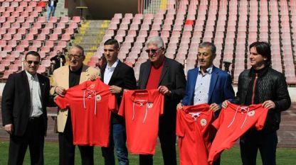 Екипите на ЦСКА-София за 70-годишнината
