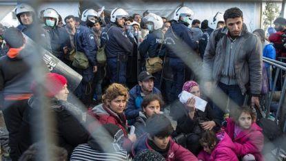 Бежанци на гръцко-македонската граница