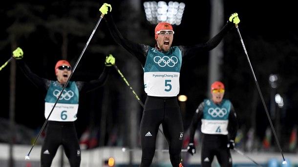 Германия спечели всички медали в ски-северната комбинация от голяма шанца на олимпийските игри