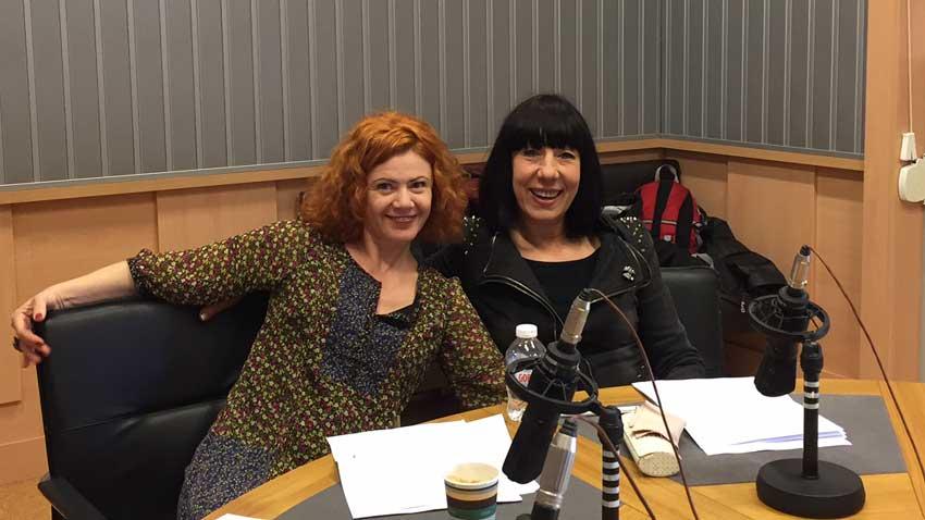 Добриела Попова (вляво) и Елена Кънева в студиото на предаването.