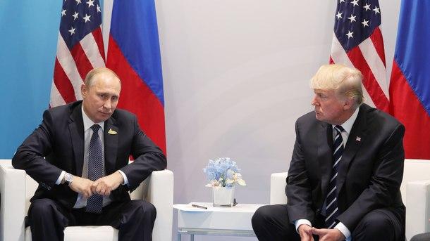Владимир Путин и Доналд Тръмп в рамките на срещата на Г-20 в Хамбург през юли 2017 г.