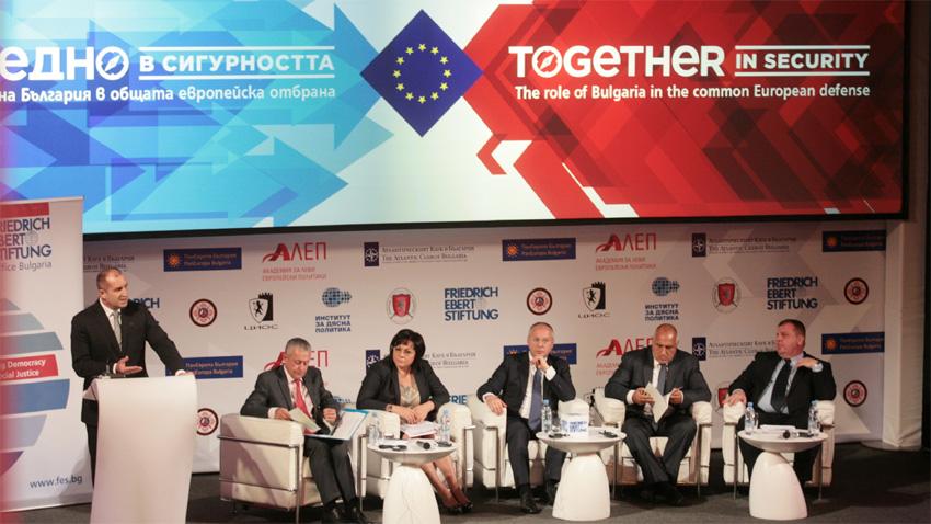 """Debati """"Bashkë në siguri, roli i Bullgarisë në mbrojtjen e përbashkët evropiane"""" tregoi se bashkimi me mbrojtjen dhe sigurinë e përbashkët evropiane nuk ka oponent ndër forcat politike."""
