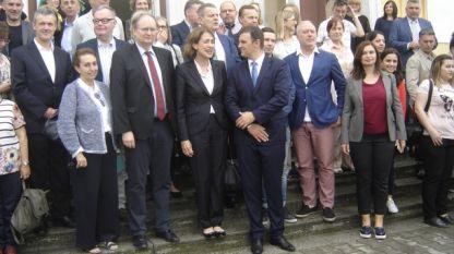 Надежда Нейнски-посланик на България в Турция и Кристиян Бергер-ръководител на делегацията на ЕС в Турция доведоха в Свиленград 70 дипломати на мултикултурна среща