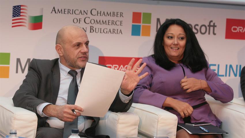 Tomislaw Dontschew und Liljana Pawlowa auf der Konferenz