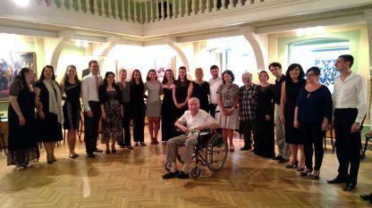 Маестро Четинян и участници в майсторски клас за хорови диригенти, Пловдив 2016 г.
