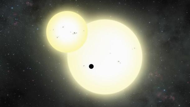 Планета с двумя солнцами Kepler 1647b