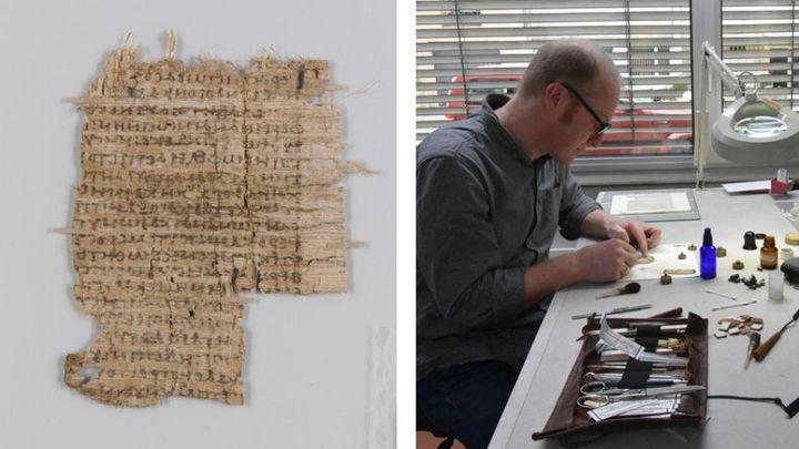 Древният ръкопис и работата по него преди разчитането му.
