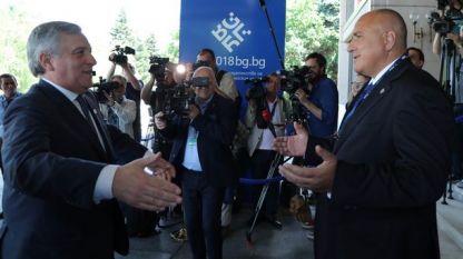 Премиерът Бойко Борисов се срещна с председателя на ЕП Антонио Таяни, който е в София за Срещата на върха ЕС – Западни Балкани.