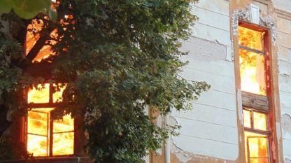 Голям пожар в Пловдив погълна покрива на три големи тютюневи склада, между тях и двата на Кудоглу, паметник на културата и напълно унищожи вътрешността на единия от тях.