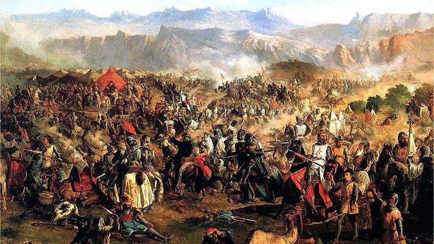 """Терминът """"реконкиста"""" (reconquista, отвоюване) обозначава седемвековния период на отвоюване на Иберийския полуостров от християнските кралства. Смята се, че Реконкистата започва с успешната битка при Ковадонга през 722, когато кралят на Астурия Рамиро побеждава мюсюлманите."""