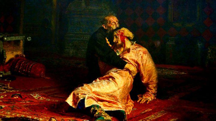 """Картината на Иля Репин """"Иван Грозни убива сина си"""""""