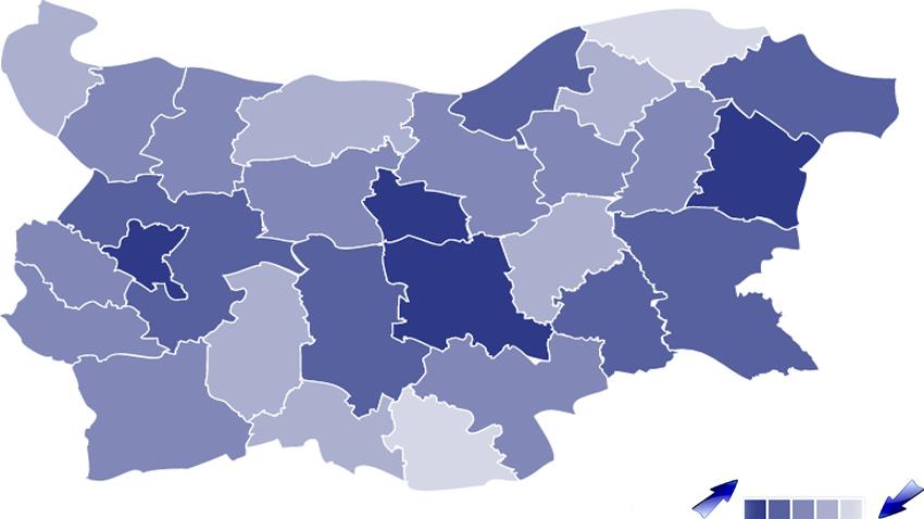Eкономски развоj региона у Бугарскоj