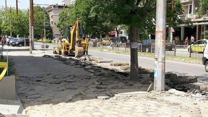 Започна вторият етап на ремонтите на централния булевард в Стара Загора