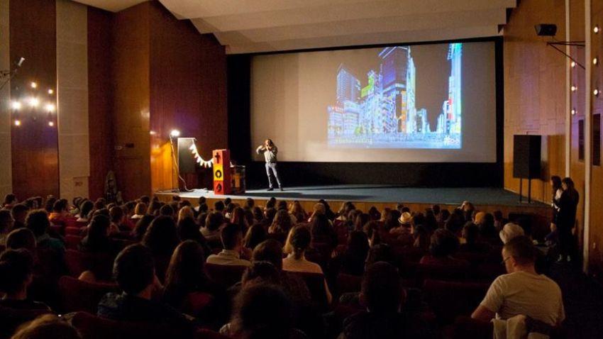 Момент от презентацията на Даниел Липчев в рамките на TOS Sofia в Дома на киното