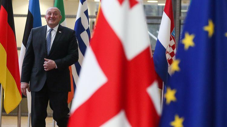 Президентът на Грузия Георгий Маргвелашвили напусна парламента в знак на