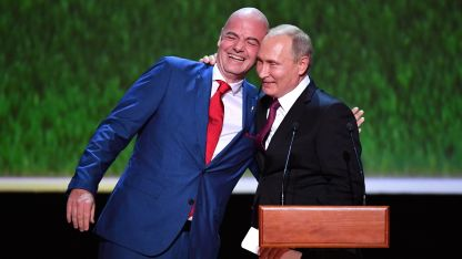Джани Инфантино и Владимир Путин