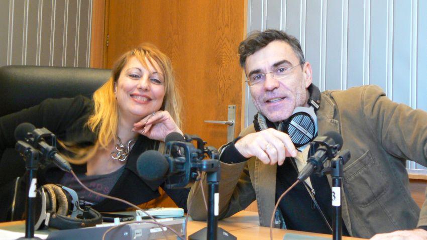 Мария Христова и Владислав Карамфилов-Въргала в студиото на