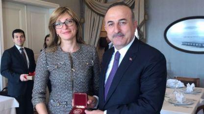 Външният министър Екатерина Захариева и турският ѝ колега Мевлют Чавушоглу