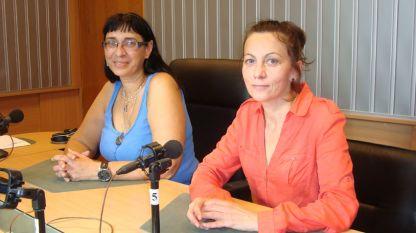 Рина Пападопулу (вляво) и Вера Милушева в студиото на предаването
