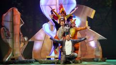 """Сцена от спектакъла """"Бременските музиканти"""" в Софийската опера."""