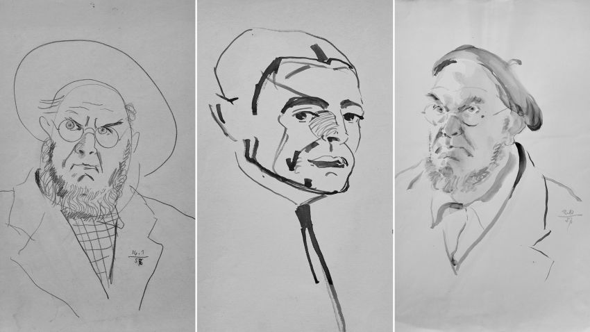"""Портрети на Иван Пенков от изложбата му в галерия """"Васка Емануилова"""""""