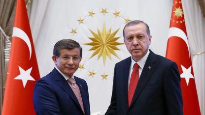 Ахмет Давутоглу и Реджеп Ердоган