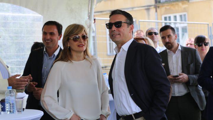 Екатерина Захариева и Никола Димитров дадоха старта на българо-македонския фестивал One love tour в Скопие.