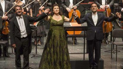 Диригентът Марко Армилиато, Красимира Стоянова и Хуан Диего Флорес