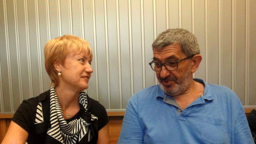 Аделина Александрова и Георги Арнаудов в студиото на