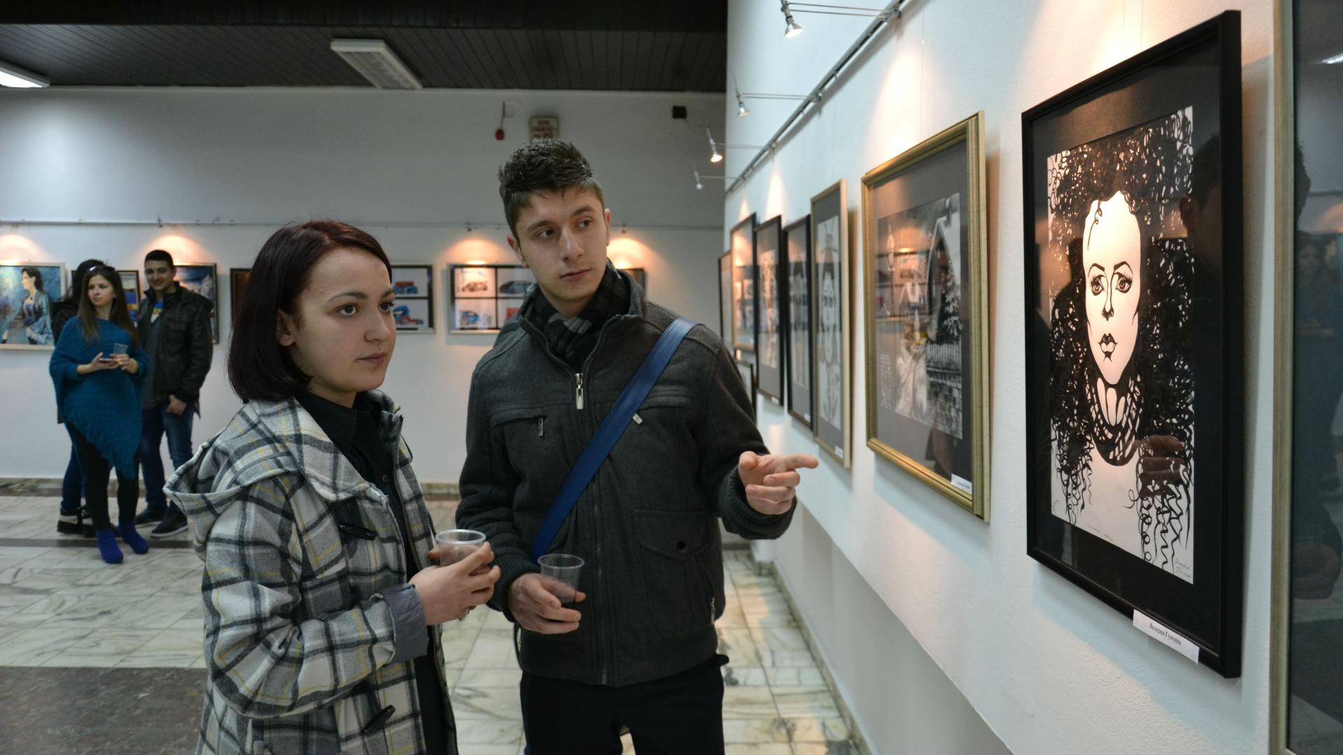 Изложба на ученици от НХГ