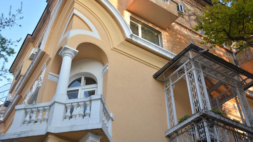 The beautiful secession balconies of a building in Shipka Str., architect Nikola Yurukov, 1911