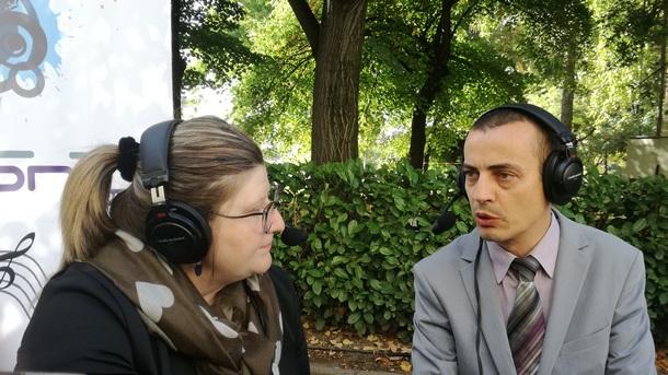 Тодор Чобанов и репортерът Добринка Добрева