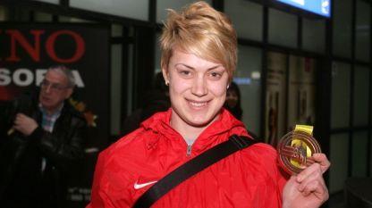 Радослава Мавродиева - победительница в толкании ядра на Балканиаде в Стамбуле