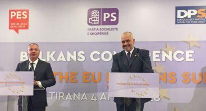 Сергей Станишев и премиерът на Албания Еди Рама