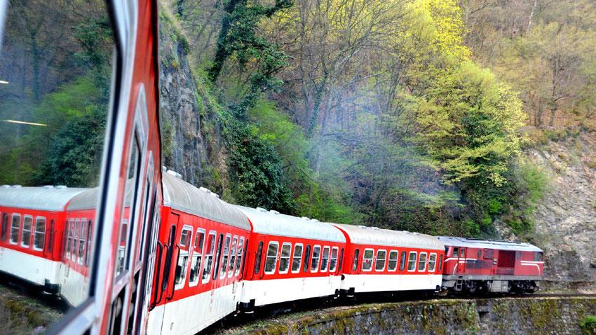 Поезд на узкоколейной железнодорожной ветке Септември - Добринищте