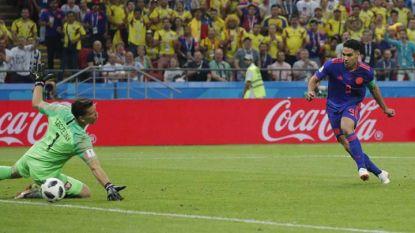 Радамел Фалкао бележи втория гол за Колумбия